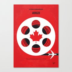 No606 My Argo minimal movie poster Canvas Print