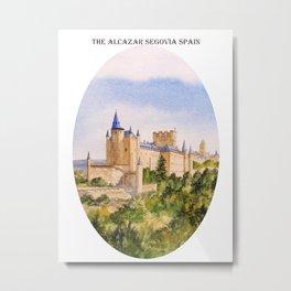 The Alcazar Segovia Spain Metal Print