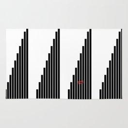 STRIPED SYMPHONY - Black and White #minimal #art #design #kirovair #buyart #decor #home Rug