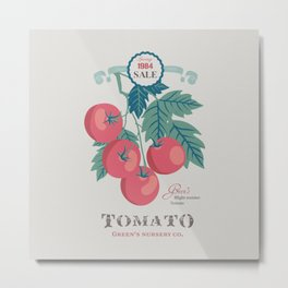 Veg Love Collection No.5 Tomato Metal Print