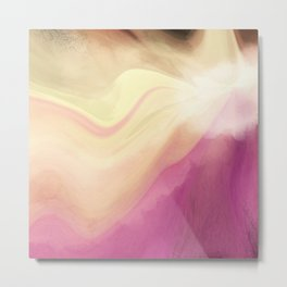 Orchid Pastel Abstract Metal Print