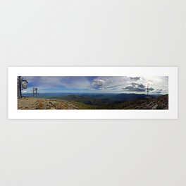 Peak of Sugarloaf Mountain in Carrabassett Valley, Maine Art Print