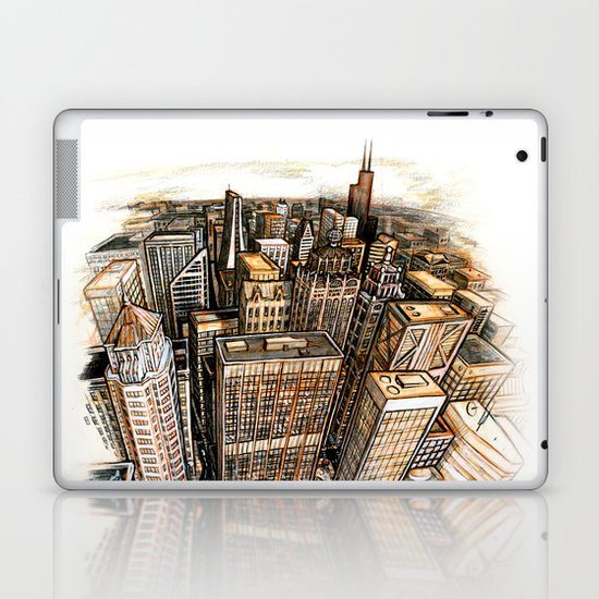 A cube with a view Laptop & iPad Skin