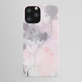 Modern Contemporary soft Pastel Pink Grey Abstract iPhone Case