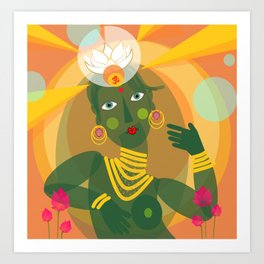 Green Tara doll Art Print