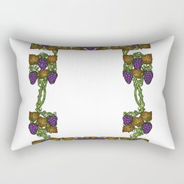 wine floral frame Rectangular Pillow