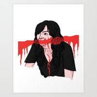 carmilla Art Prints featuring carmilla karnstein by Ana Rocha