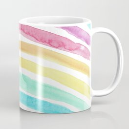 Pastel Watercolour Rainbow art Coffee Mug