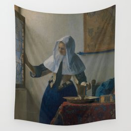 """Johannes Vermeer """"Young Woman with a Water Pitcher"""" Wall Tapestry"""