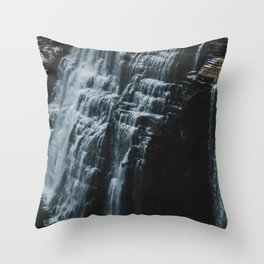 Middle Letchworth Falls Throw Pillow