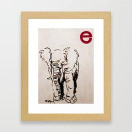 E is for Elephant Framed Art Print