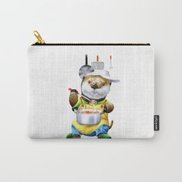 A sea otter cooking Carry-All Pouch