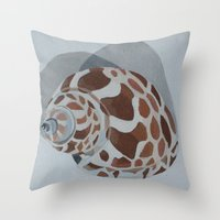 shells Throw Pillows featuring Shells by Marjolein