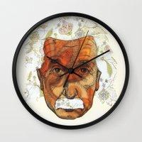 einstein Wall Clocks featuring Einstein by Jason Ratliff