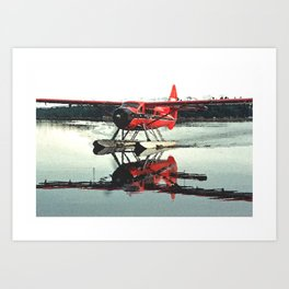 Beluga Lake Otter Art Print