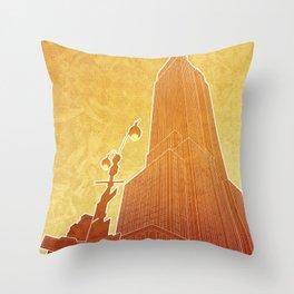 New Empire City Throw Pillow