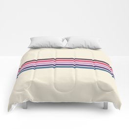 Five Trendy Stripes on White 17 Comforters