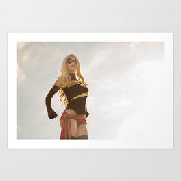 Katie Cosplays as Ms Marvel Art Print