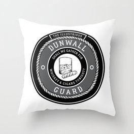 Whiskey & Cigars (Grey) Throw Pillow