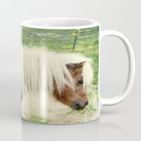 pony Mugs featuring Pony by angela haugland