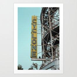 Roller Coaster signs Art Print