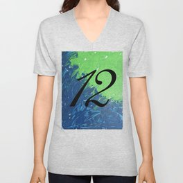 Blue & Green, 12, No. 1 Unisex V-Neck
