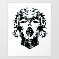 madonna Art Prints featuring Madonna  by yvaingeni