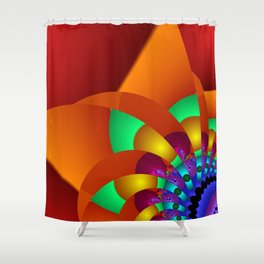 chaotic colors -2- Shower Curtain