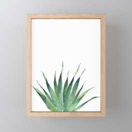 Tropical Palm Leaf #4 | Watercolor Painting Framed Mini Art Print