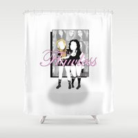 nicki Shower Curtains featuring Flawless by irokart