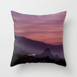 Gold Beach Sunset Throw Pillow