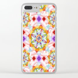 Beaux Arts Pink Waves Clear iPhone Case