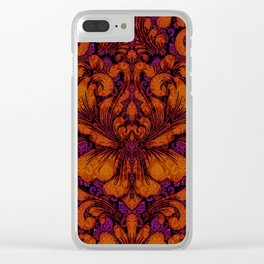 Gothic Flowers Clear iPhone Case