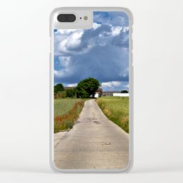 Summer Field Poetry Clear iPhone Case