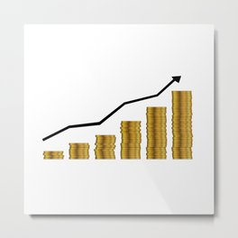 Rising Prices Metal Print