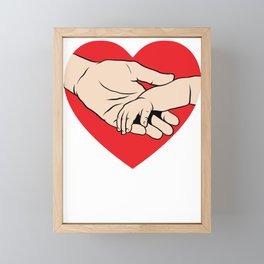 New Dad Father's Day Gift Dad and Baby Holding Hands Framed Mini Art Print