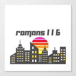 Romans 1:16 Canvas Print