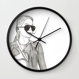 Cool People Smoke! Wall Clock