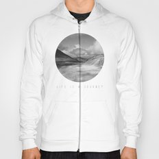 Life Is A Journey (Black & White) Hoody