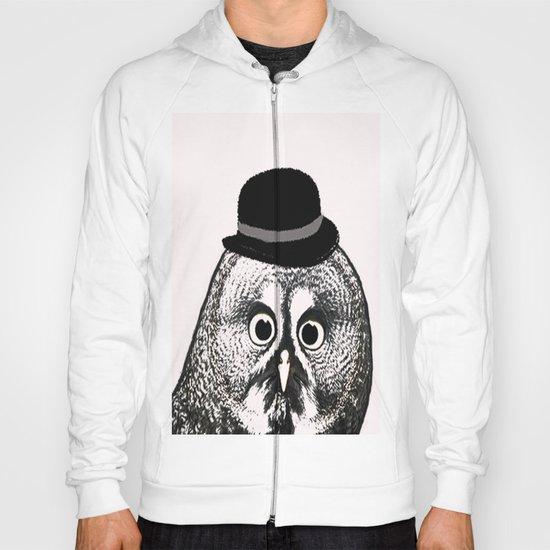Owl in Bowler Hat  Hoody