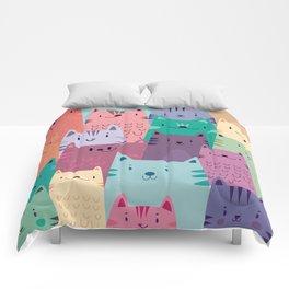 Pastel Cats Comforters