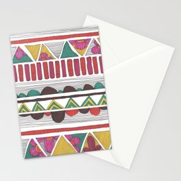 Floral Tribal Pattern Stationery Cards