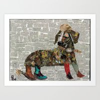 woody Art Prints featuring Woody by Becky Shelton