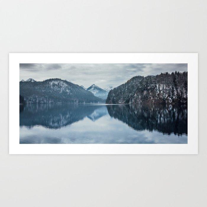 Alpsee lake,Bavarian alps Art Print