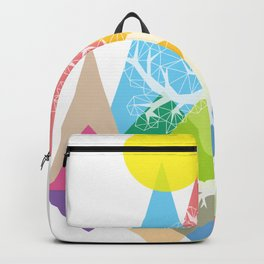 Tree White Backpack