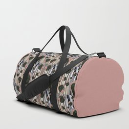 Raven rising against a pink sunset Duffle Bag