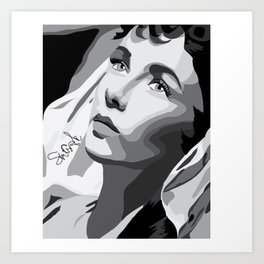 Elizabeth Taylor - Dreamy Eyes Art Print