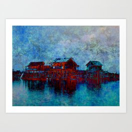 Night in Sebangau Art Print