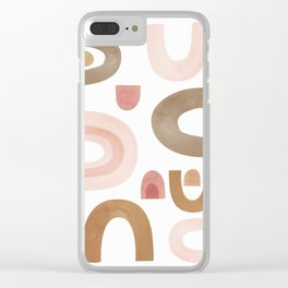 Terracotta Shapes Clear iPhone Case