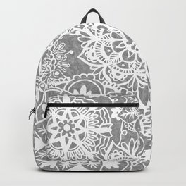 Soft Grey Mandala Pattern Backpack